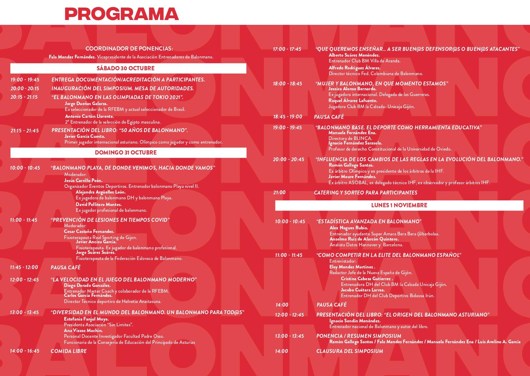 Programa Clinic HandBall 2021